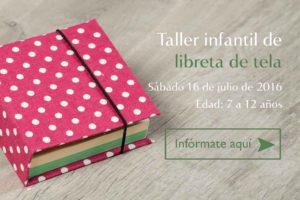 Taller Infantil Libreta de tela