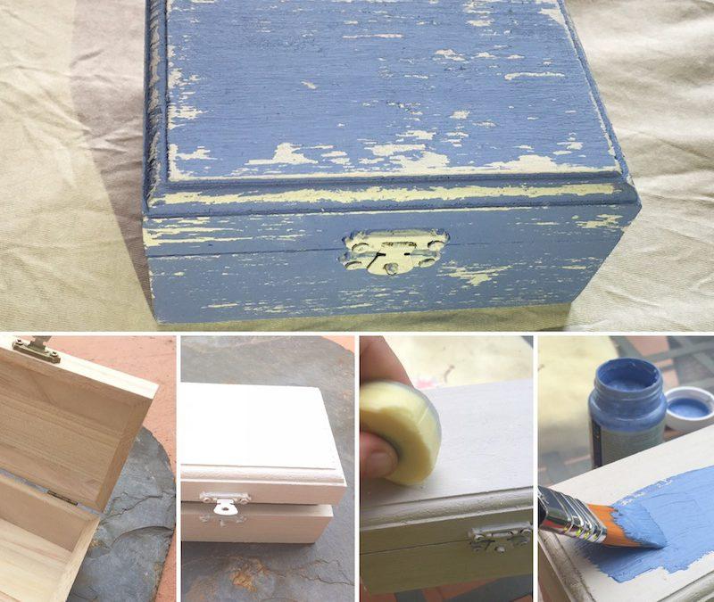 Como pintar una caja de madera caja de msica de madera - Como decorar cajas de madera paso a paso ...