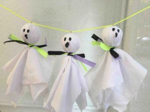 Manualidades de Halloween para niños - Fantasmas
