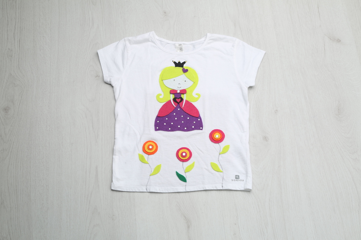 Video de manualidades infantiles: Camiseta princesa
