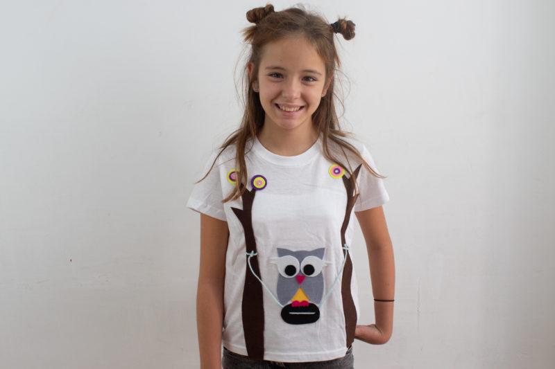 Cómo decorar una camiseta con fieltro: Búho