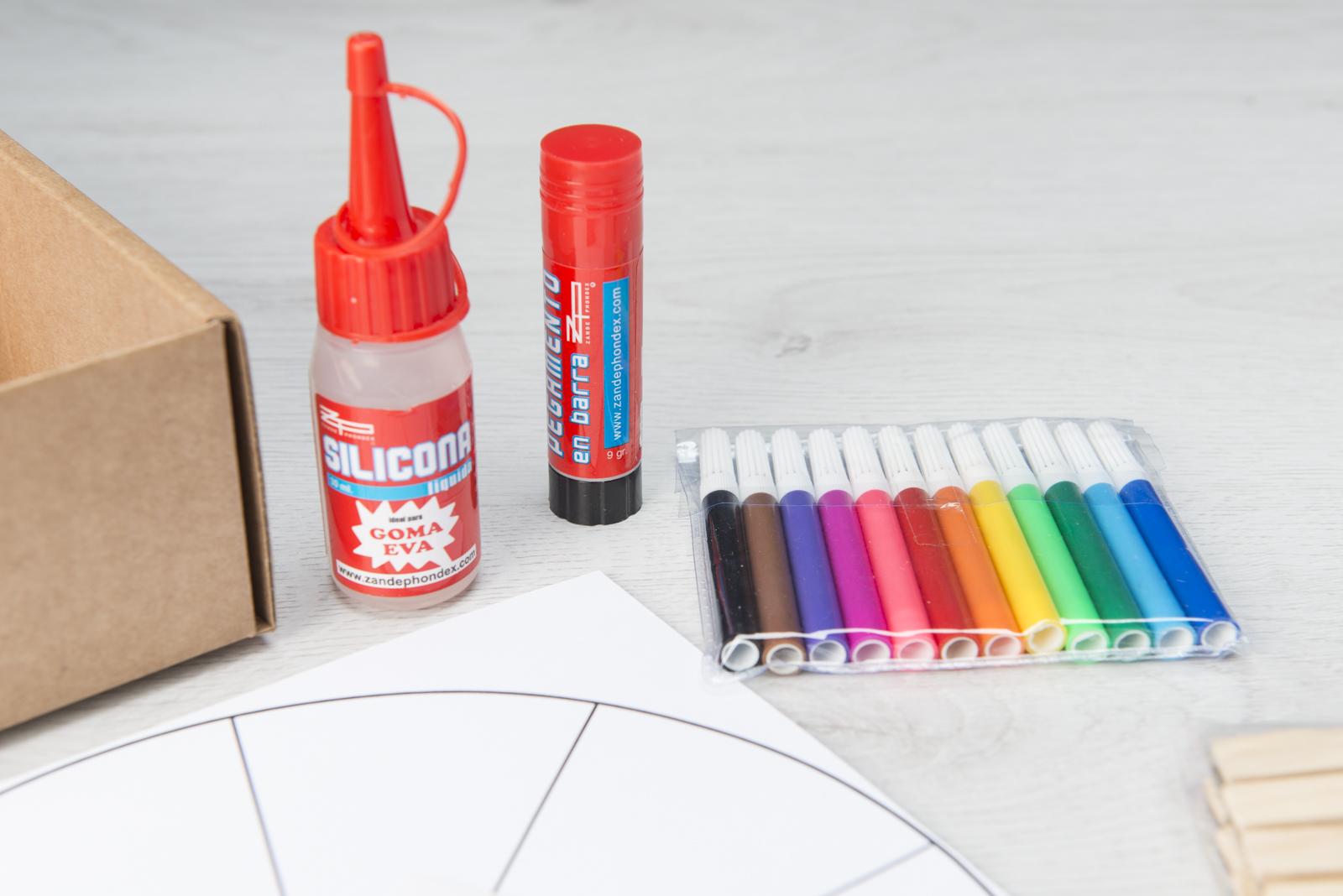 Materiales de manualidades infantiles Silicona fria