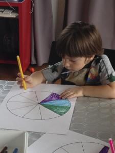 Taller infantil de rueda de matemáticas